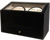 4+4 BlackwoodQuad Watch Winder Box AC/DC  w/ Drawer